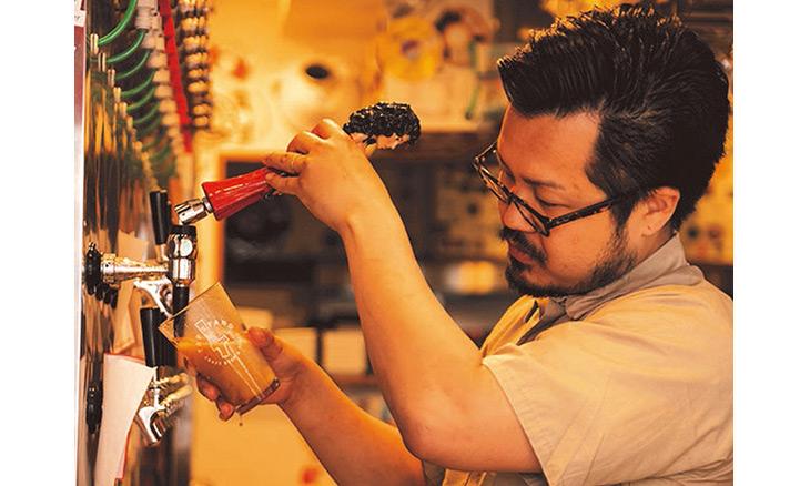 ビールタップは計22本、ナイトロは樽替わりで常時1種類を提供