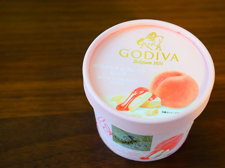 「ゴディバ ホワイトチョコレート ピーチ」356円
