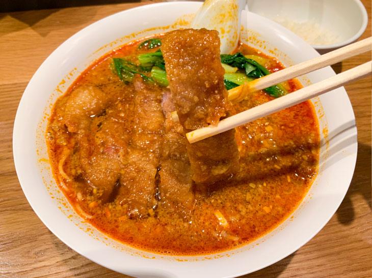 「排骨担々麺」980円