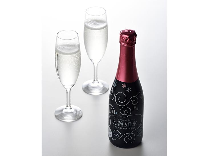 新潟『白瀧酒造』の「上善如水スパークリング」一杯400円