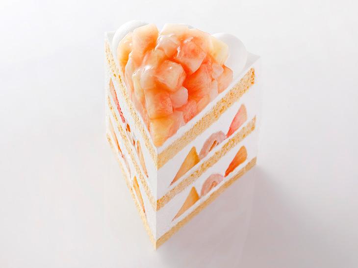 「新エクストラスーパーピーチショートケーキ」1ピース 3500円