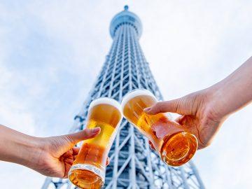 スカイツリーの真ん前で乾杯! 「見上げるビアガーデン」のビールに合うおすすめメニュー6選