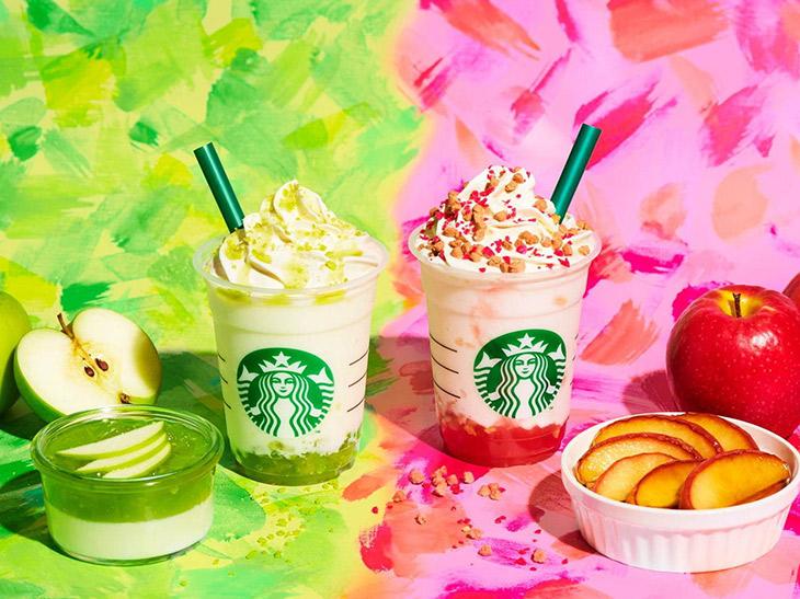 残暑を吹き飛ばす爽やかさ! スタバの新作「グリーン アップル ジェリー」と「ベイクド アップル ピンク フラペチーノ」