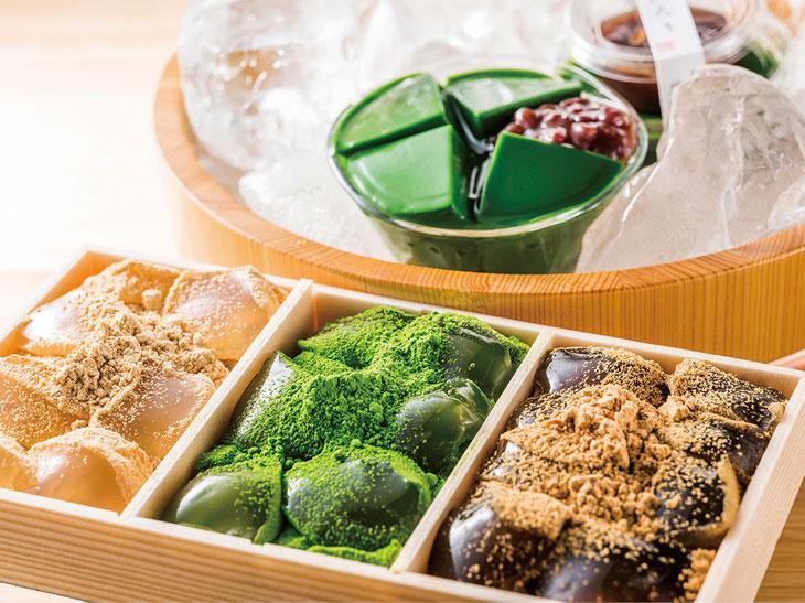 わらび餅3色(きなこ・抹茶・黒糖)1300円