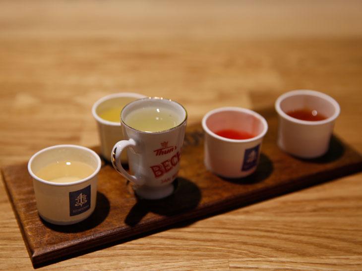 飲み比べ4種セット(この時は特別に5種用意してもらった)は少量ずつなので、お酒が苦手な人でなければ大丈夫