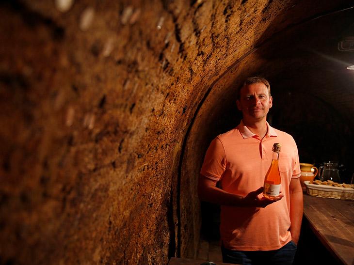 2つのセラーが繋がっている建物の地下は、国の遺産として保護されている