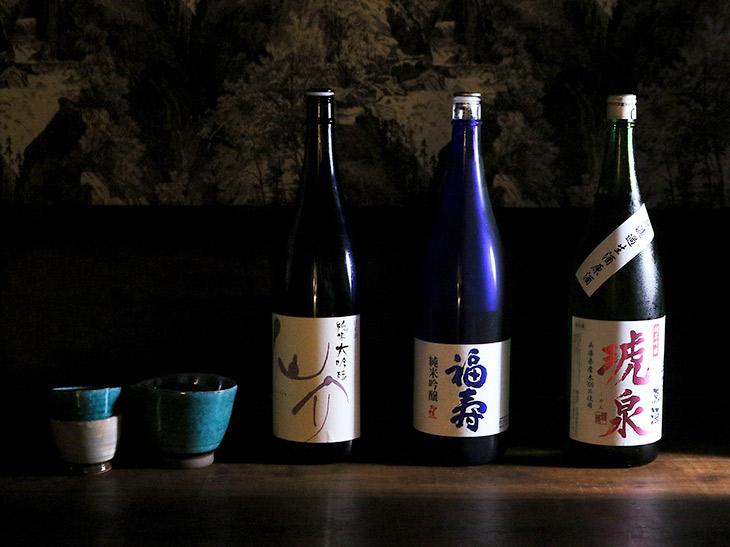 兵庫県産の銘柄を中心にそろえた日本酒