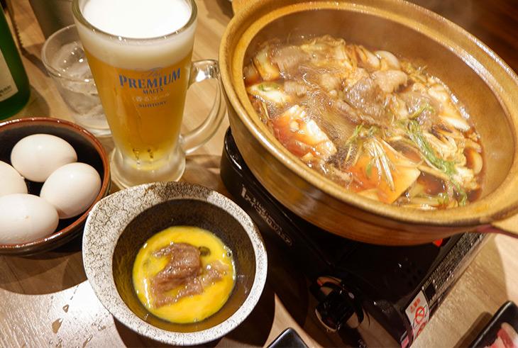食べ進むうちに体が温まります。ビールも進みます