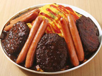 『神田たまごけん』で大食いチャレンジ! 総重量3.5kgの「肉のせデカ盛りオムライス」が登場