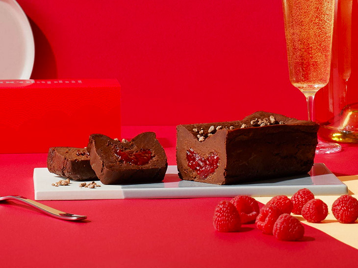 「ガトーショコラ フランボワーズ&シャンパン」3500円(税込)。毎日、数量限定での販売なので買い逃しなく!