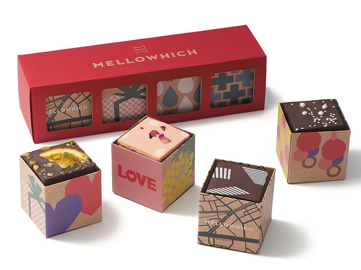 パウンドケーキ(4個入)バレンタイン限定パッケージ1296円/東急フードショーエッジ