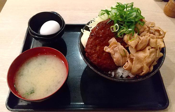 「パワフルバーグ合盛りすた丼」920円