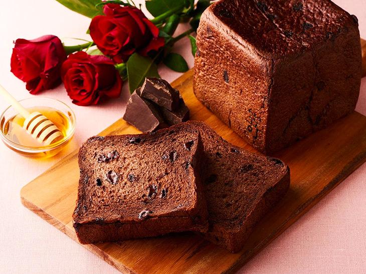 高級生食パン『嵜本』にバレンタイン仕様の「ショコラ食パン」が登場!