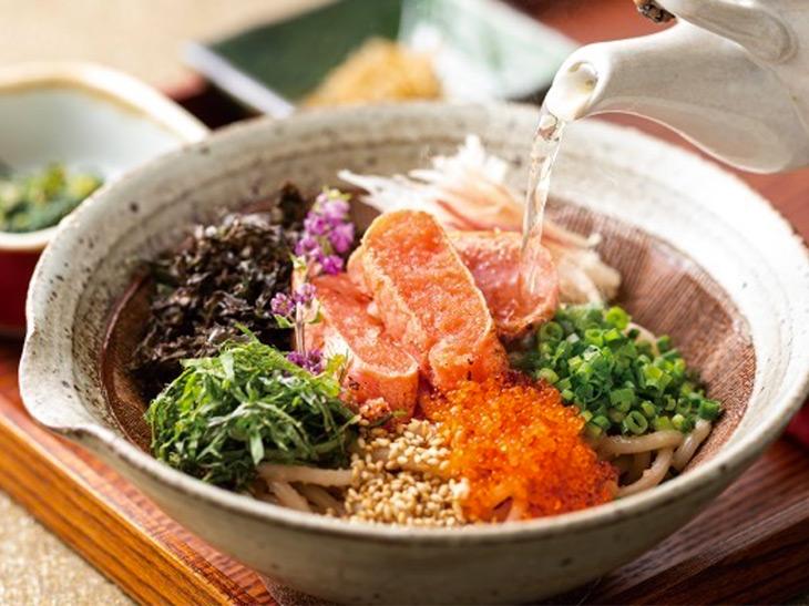 「炙りたらこのお出汁スパゲティ(出汁スープ付)」979円(税込)