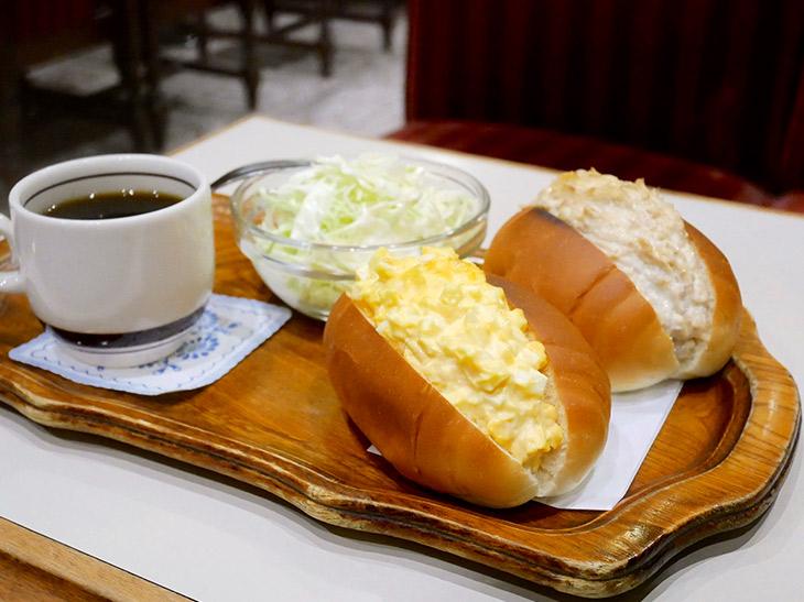 「卵とツナのサンドセット」1100円