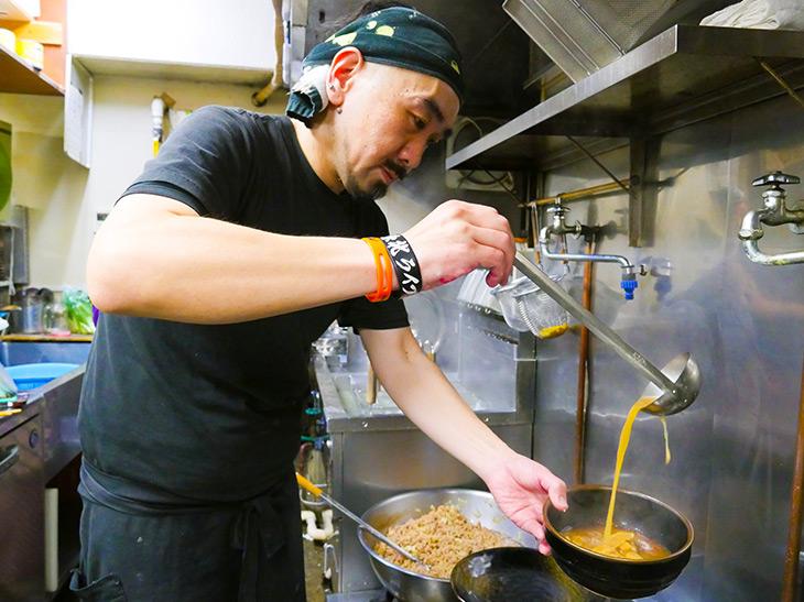 店主の田村さん「3月は坦々麺、夏はジャージャー麺など季節のメニューも楽しんで」