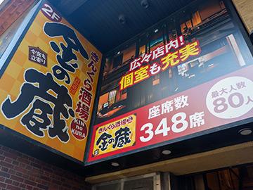 金の蔵・新宿西口大ガード店 外観