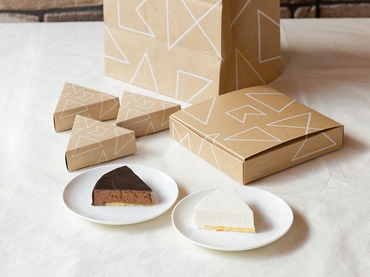 アルペンチーズケーキ カット320円、ホール 1900円