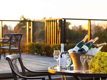 シャンパン4種が飲み放題! 椿山荘の空中庭園に「シャンパンガーデン」が登場