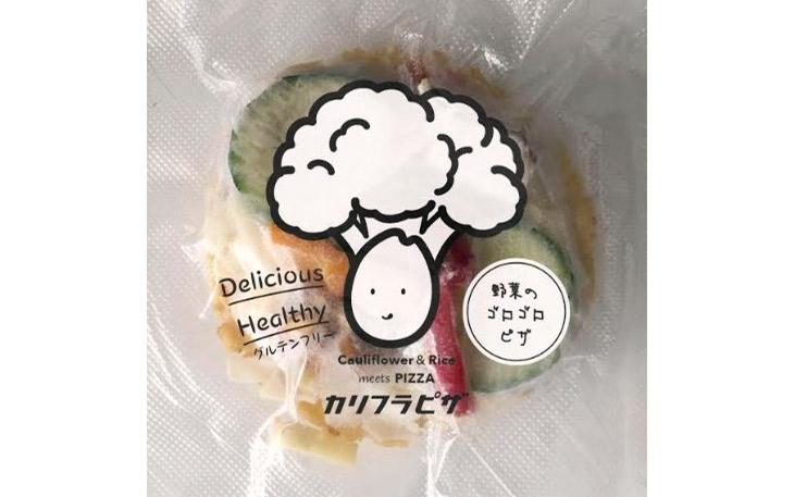 カリフラワーとお米がデザインされたパッケージ。賞味期限は製造日から3カ月