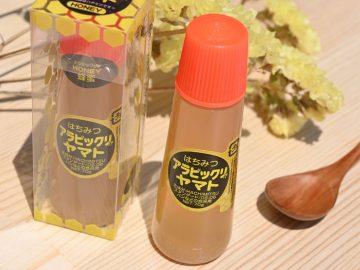塗り心地も一緒! 「アラビックヤマト」ののり容器に入った蜂蜜が使いやすい!