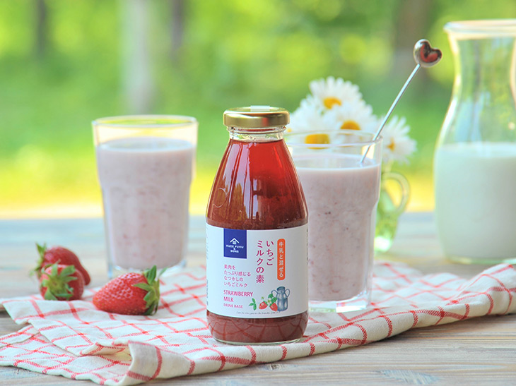 「牛乳と混ぜる いちごミルクの素」1本754円