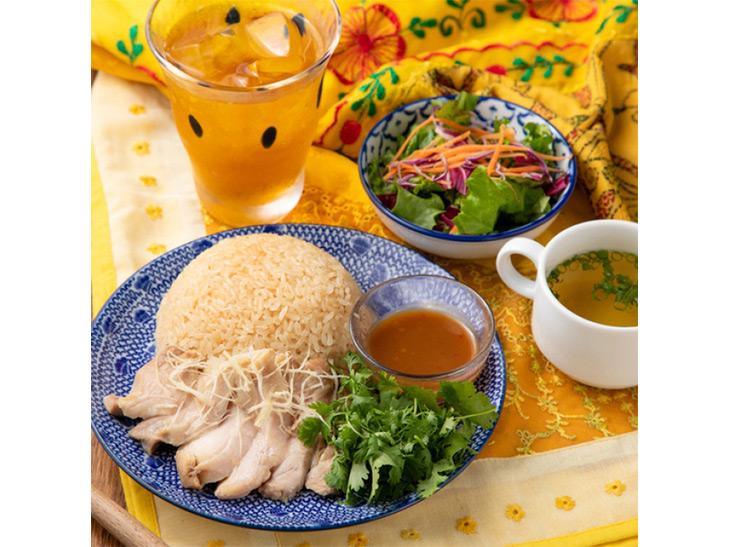 タイ料理歴30年プーさん監修のカオマンガイ(チキンライス)高知県産生姜のスープ+副菜1種+ミニサラダ付き
