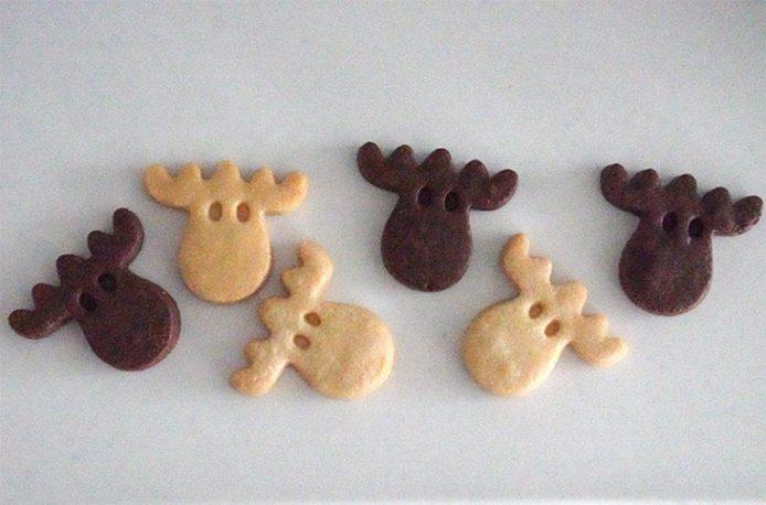 ヘラジカ(エルク)の形をしたクッキーは、ナチュラルとココア味の2種類。キュートな缶入りで1缶1404円(税込)
