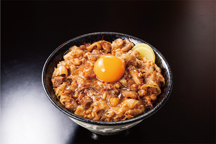 """「ごってり""""肉汁油""""すた丼」850円(税込)"""