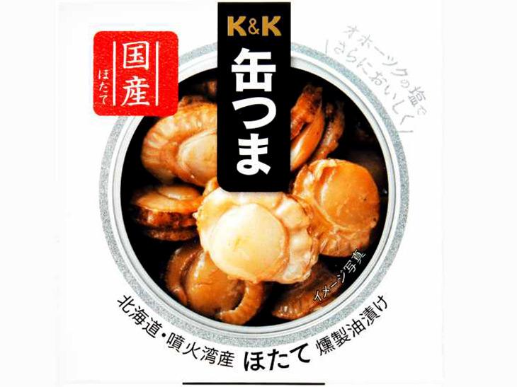 2位:「缶つま 北海道噴火湾産ほたて燻製油漬け」