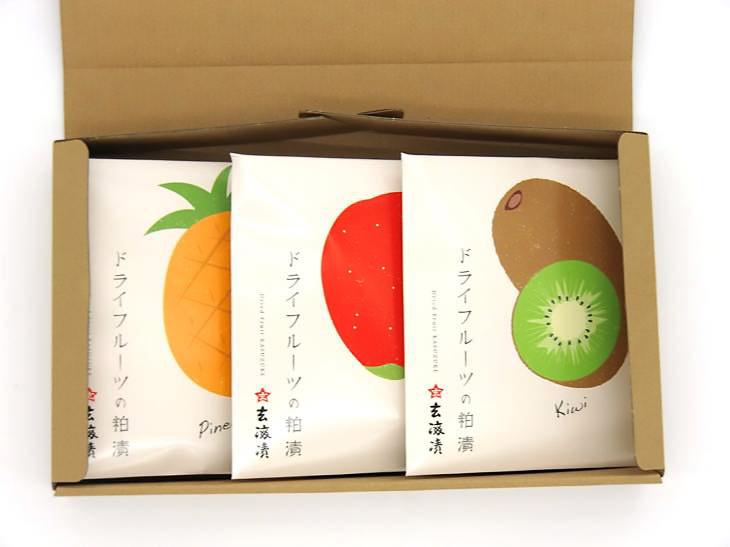 「ドライフルーツの粕漬 3種類詰合せ」2052円(税込)