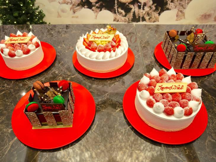 全部で5種類のクリスマスケーキが登場