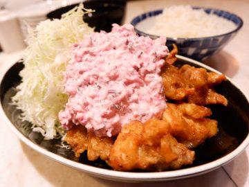 ピンクのタルタルソースが絶品! 歌舞伎座のそば絶品「唐あげ南蛮」を食べてきた