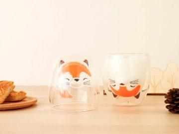 名作童話「ごんぎつね」の「ダブルウォールグラス」が可愛すぎる!