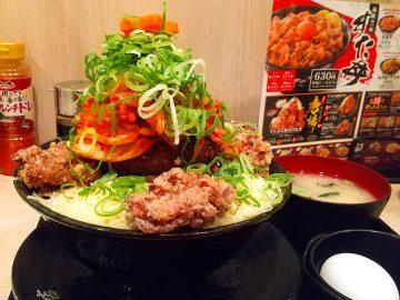 1.5kgの肉ツリー!『伝説のすた丼屋』の「極楽肉ニクにくツリーすた丼」を食べてみた