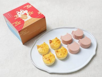 """新年を祝う""""紅白にゃんチー""""が『ねこねこチーズケーキ』にお目見え!"""