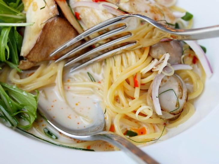 サラサラとしたスープスパゲッティ