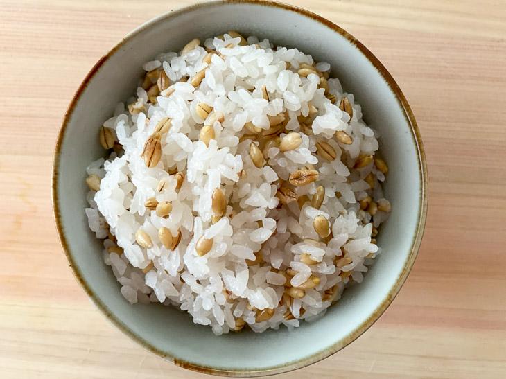 白米に混ぜて炊いてみた