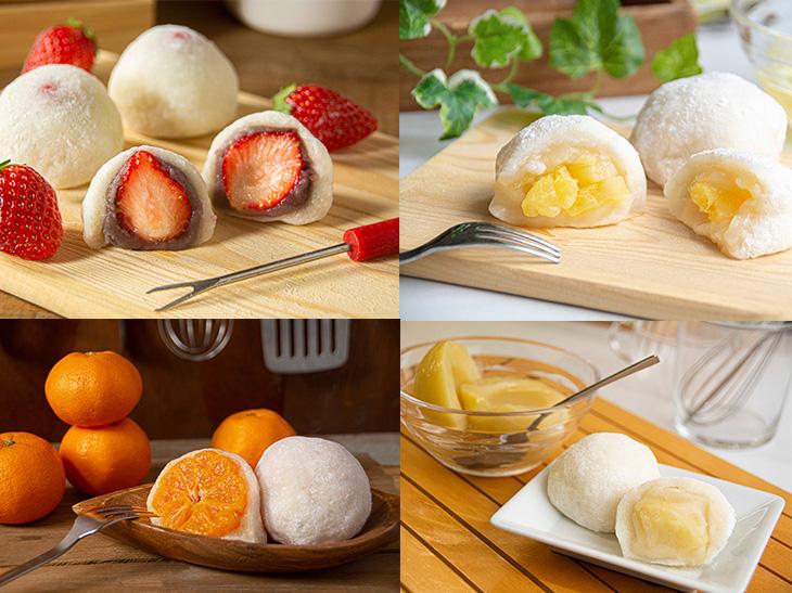 餡とフルーツの組み合わせは自由自在。いつもの大福とは一味も二味も違います