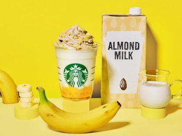 バナナ×アーモンド! スタバの「バナナンアーモンドミルク フラペチーノ」が魅力的