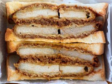 『肉の万世』の秋葉原本店でボリューム2倍の「弐万かつサンド」を食べてみた!