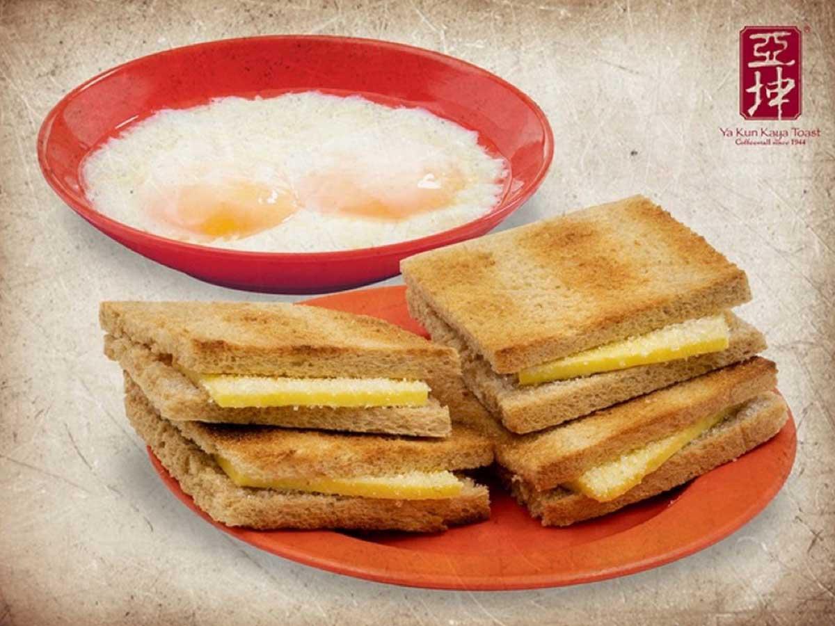 「カヤトースト・バターセット」(温玉&ドリンク付き)590円