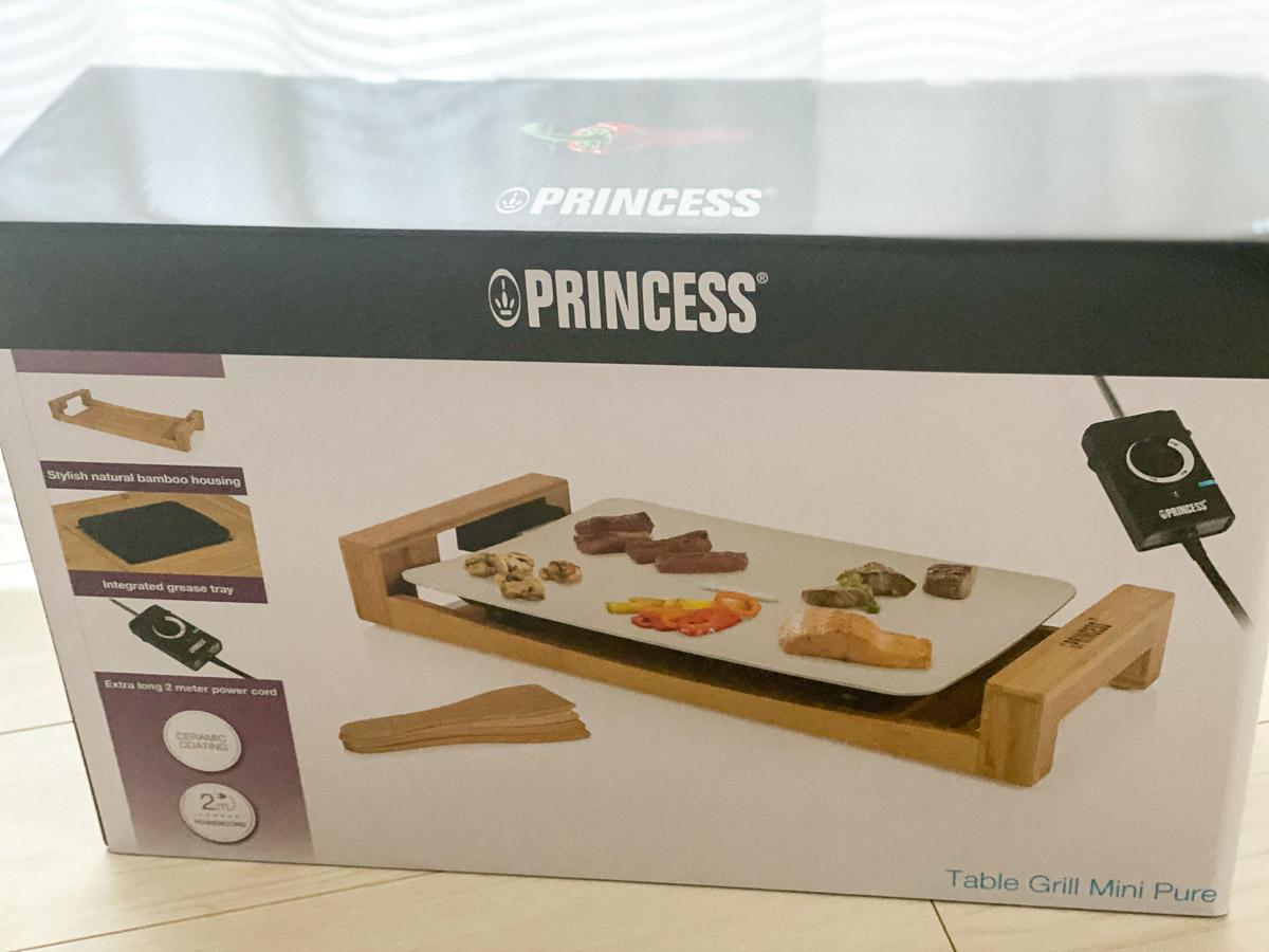 「テーブルグリルミニ ピュア」の外箱