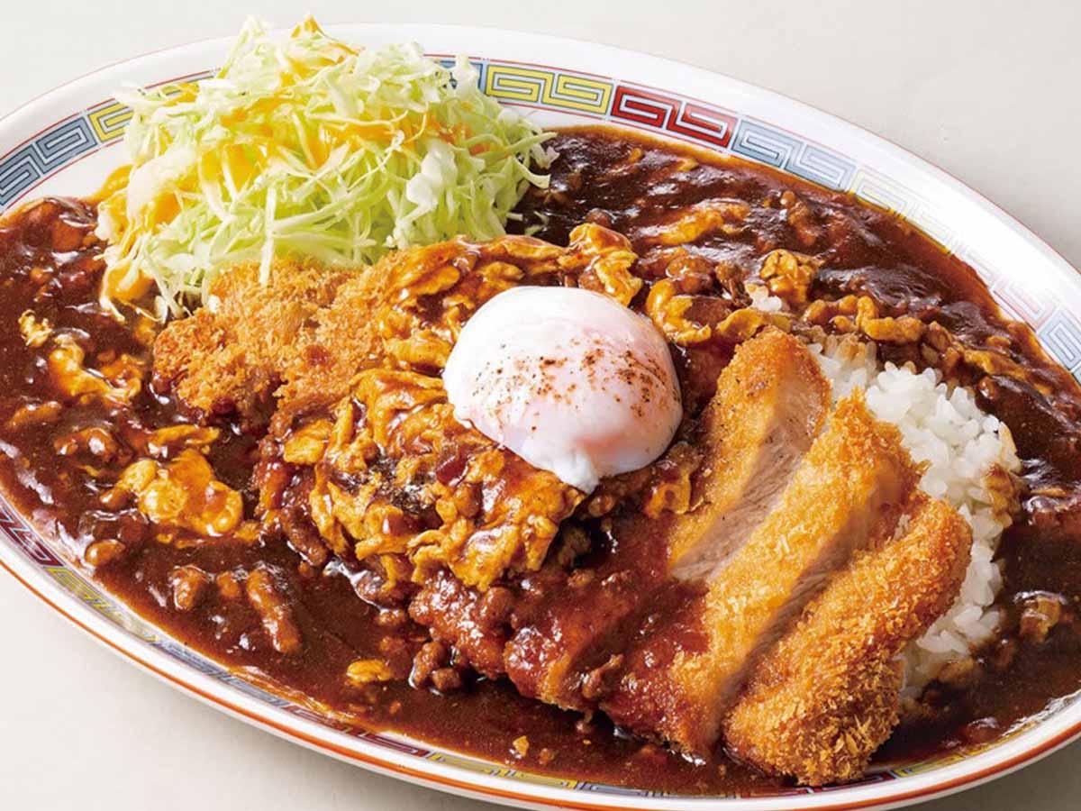 カレーと麻婆のパワフル飯!『大阪王将』の「元気盛り ハッスル麻婆カツライス」を食べてみた