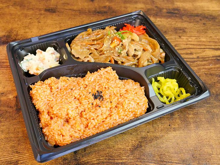 ケチャップライスと生姜焼き、どっちも濃厚!「生姜焼き弁当」340円(税抜き)