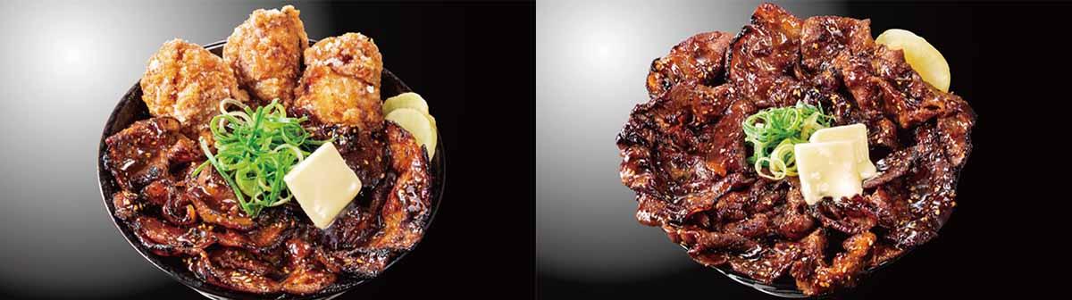 左「唐揚げ合盛り北海道すた丼」1130円、右「でっかいどうすた丼」1330円