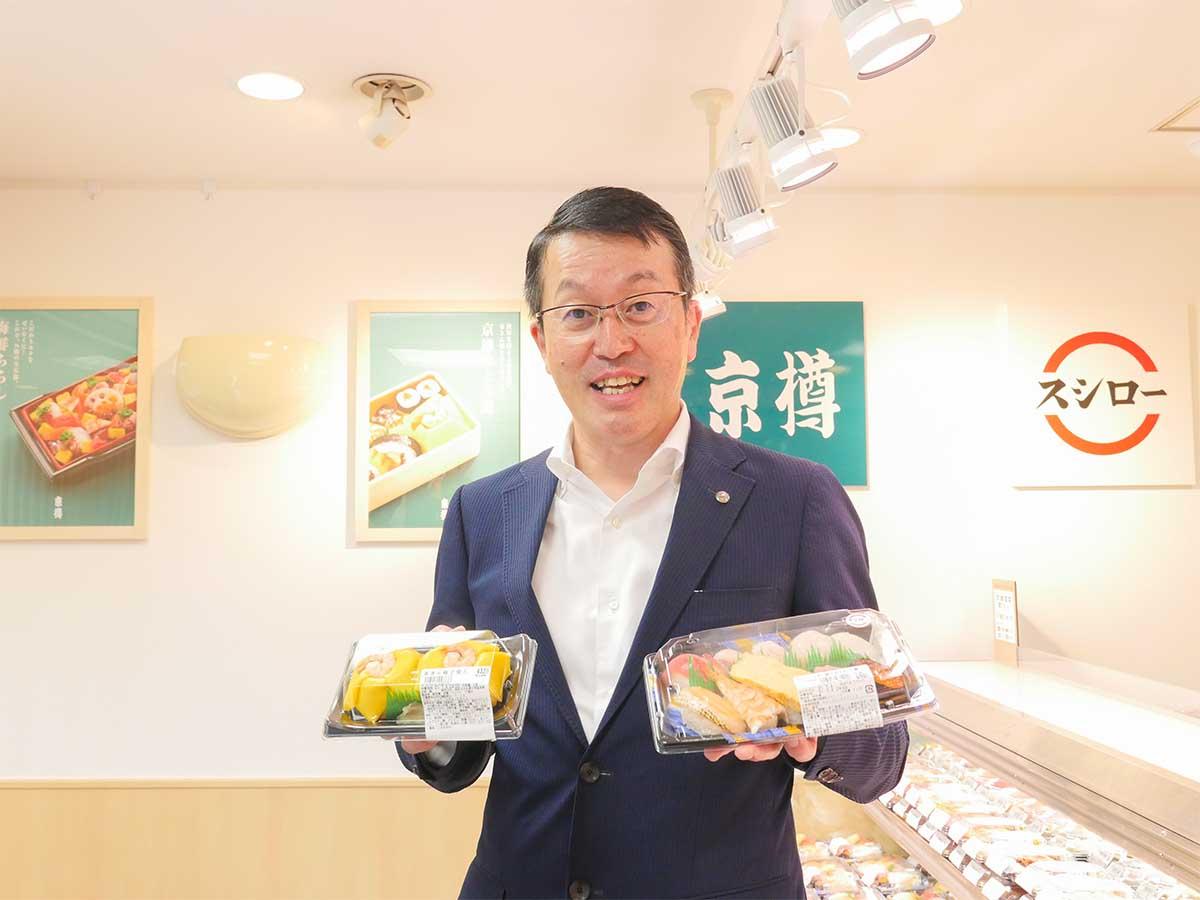 京樽の社長、石井憲さん。茶きん鮨やバッテラ、海苔やシャリを語ると止まらない、『京樽』愛に溢れたチャーミングなキャラクター